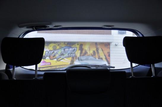シースルー車内からの風景